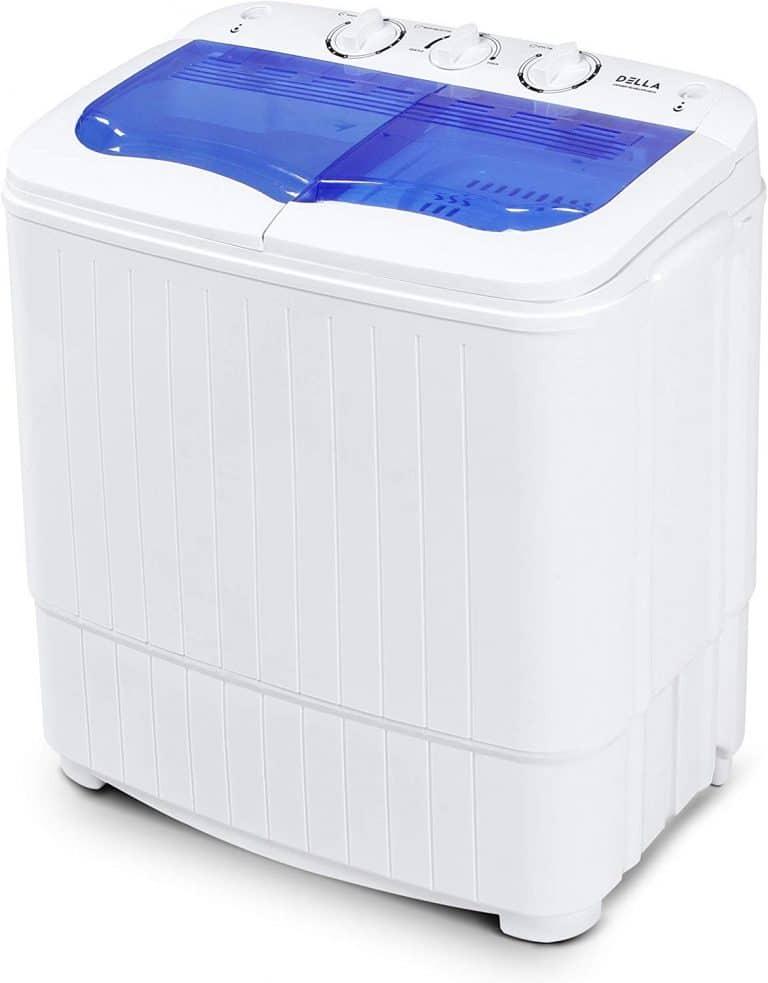 DELLA Electric Small Mini Portable Compact Top Load Washer