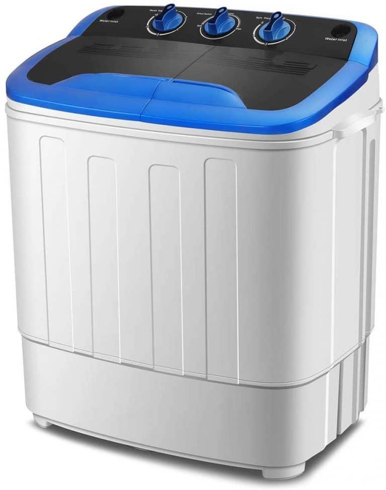 KUPPET Washing Machine, Portable Mini Compact Twin Tub Washer Spin Dryer