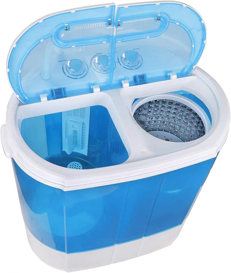 ZenStyle Compact Design Mini Twin Tub 9.9 LB Top Load Washing Machine Portable 2-in-1 Washer/Spinner